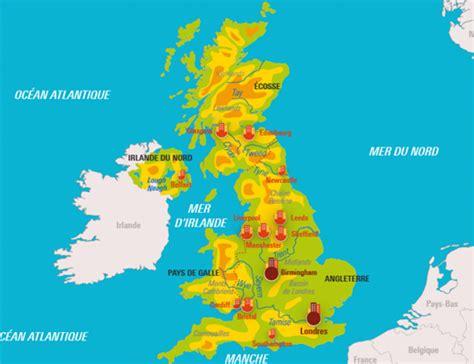 Carte Angleterre Grandes Villes by Le Royaume Uni Relief Et Ses Grandes Villes