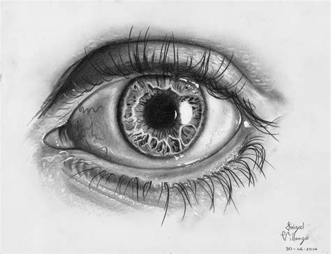 Dibujo con Lapiz: Como dibujar un ojo realista video paso