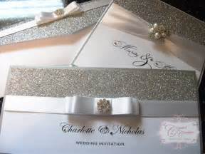 wedding invitations 1 glitter and silver wedding invitation couture luxury wedding stationery norfolk uk