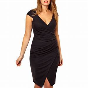 dress great size draped and v neckline venusia With robe décolleté v plongeant