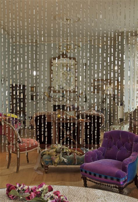 beaded curtains give your living room a retro feel