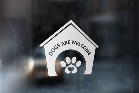 dogs  sign dogs  sticker dogs  window