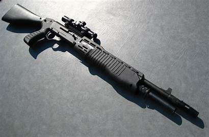 Shotgun Spas Weapons Shot Gauge Shooting Shoot