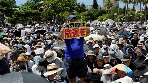 since 1972 us giving back 17 of occupied okinawa land to rt news