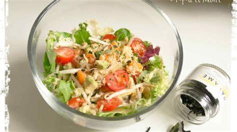 cuisiner le soja frais salade de crabe abricots frais avocat et germes de soja