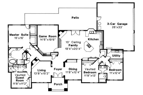 southwest home designs southwest house plans barstow 30 050 associated designs