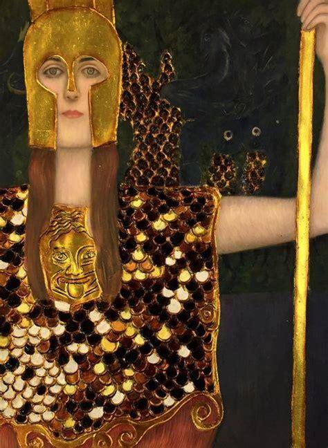 klimt pallas athene luxury  reproduction oil painting
