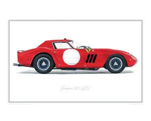 Cars Posters 250gt by 250 Gto 1964 Limited Edition Classic Car Print