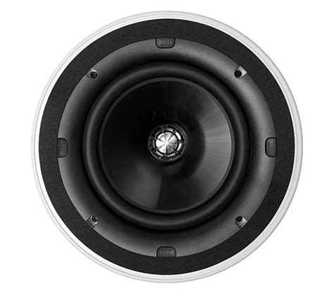 Features integrated woofer/baffle design delivers greater low frequency response by employing a 7″ woofer where competitive models of the same outer size. KEF Ci200QR in ceiling speaker