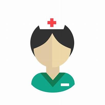 Nurse Vector Icon Medical Svg Flat Female