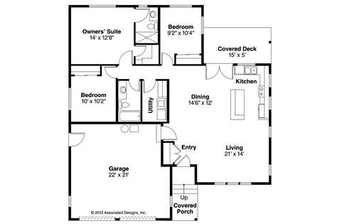 house with floor plan ranch house plans kenton 10 587 associated designs