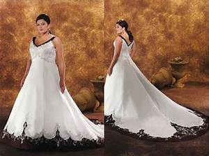 Black and white wedding dresses a trusted wedding source for Black and white plus size wedding dresses