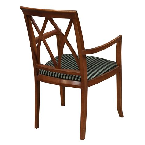 bernhardt used wood side chair striped pattern national