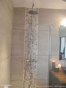 Salle De Bain En L : salle de bain avec douche l 39 italienne et baignoire lot am esquisse c t maison ~ Melissatoandfro.com Idées de Décoration