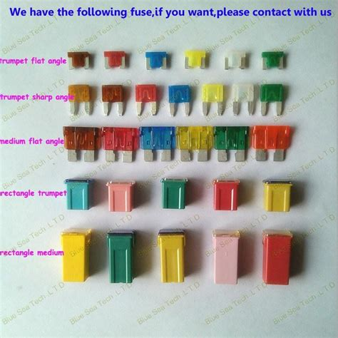 6 Models 600pcs 7.5a To 30a Original Mini Type Auto Fuse