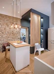 les 25 meilleures idees de la categorie claustra bois sur With meuble cuisine petit espace 16 escalier maison bois moderne deco maison moderne