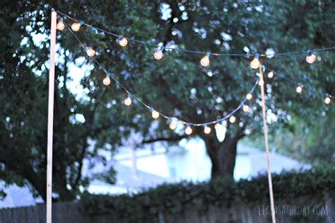 how to string lights outside how to string outdoor lights without trees creativity