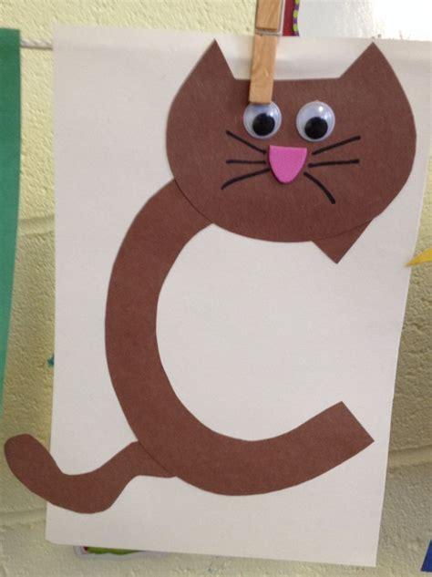 cat  images preschool letter crafts