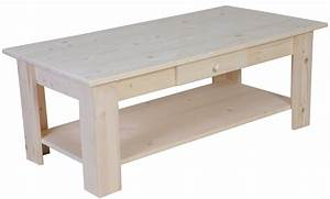 table basse pin brut With peindre table en bois