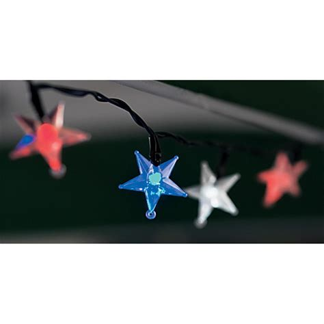 red white and blue solar lights red white and blue solar outdoor led star lights 134388