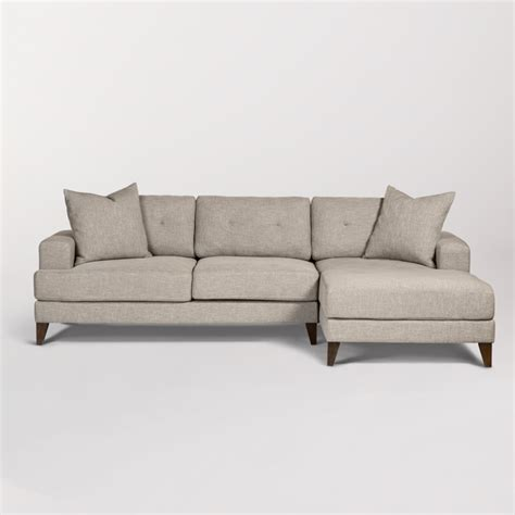 sidney sectional  facing chaise raf alder