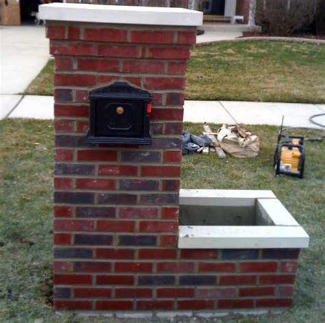 brick l post designs woodworking building a brick mailbox post plans pdf