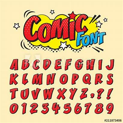 Font Comic Pop Cartoon Letters Retro Title