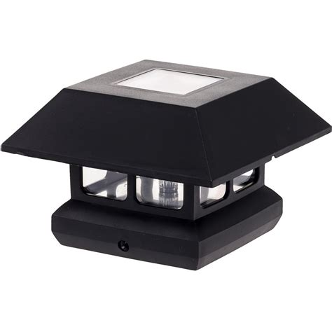 solar powered l post greenlighting 4 in x 4 in solar powered integrated led