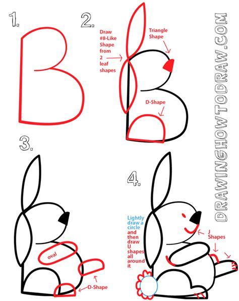 big guide  drawing cartoon bunny rabbits  basic