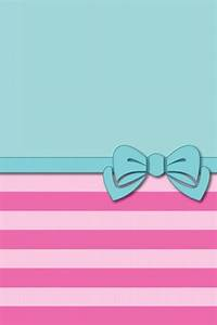 Green and pink stripes bow | Cute Phone Wallpaper ...
