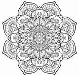 Kaleidoscope Printable Coloring Pages Adults Getcolorings Colorings Print Getdrawings sketch template