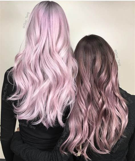 Stunning Rose And Pink Metallic Hair Color Designs By