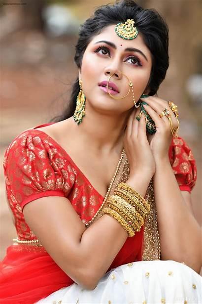 Photoshoot Actress Saree Half Meghali Stills Tamil