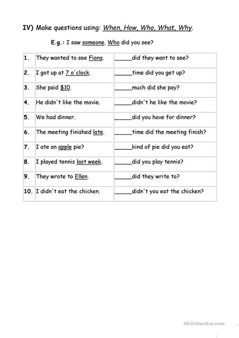 wh questions worksheets for grade 3 worksheet exle