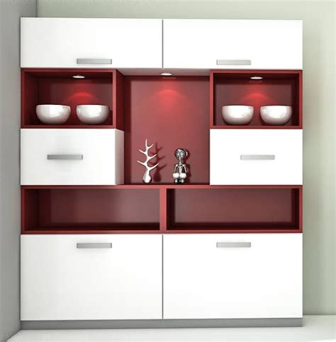 Small Kitchen And Dining Room Ideas - modern crockery cabinet designs