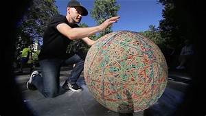 HUGE rubber band ball in Central Park - YouTube Balls and Bands
