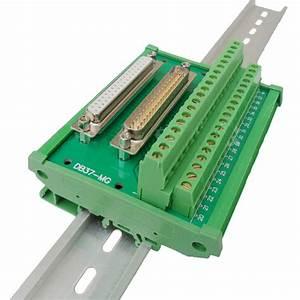 Db37 D Sub 37 Pin Male Female Dual Connectors Terminal Block Wiring Breakout Board