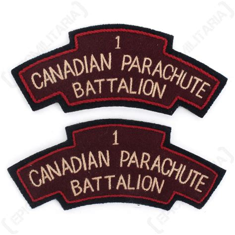 army 1st canadian parachute battalion shoulder titles flashes ww2 repro ebay