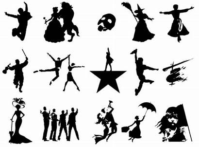 Broadway Drama Musical Theatre Musicals Silhouettes Clipart