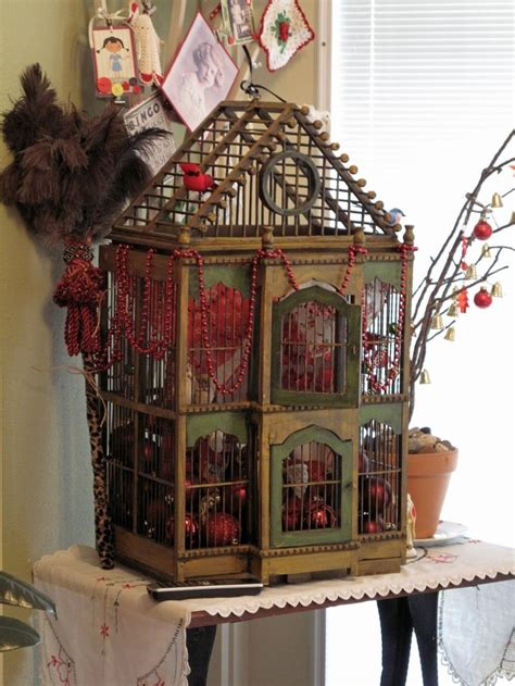 give  home  chic decor  reusing   bird cage