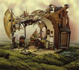 mystery island kitchen amazing surreal paintings by a artist jacek yerka