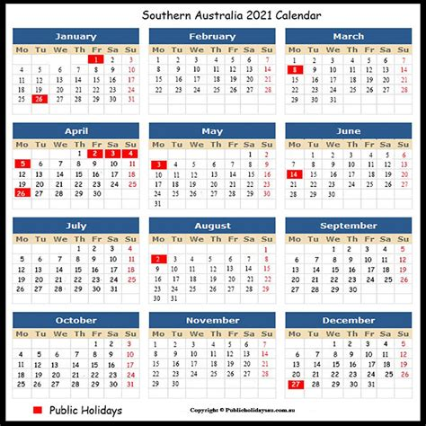 This page contains a national calendar of all 2021 public holidays. 2021 Public Holidays SA