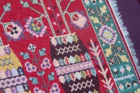 tapis chinois les potiches reflets de soie