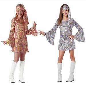 Girls Disco Costume Kids 70s Halloween Fancy Dress | eBay