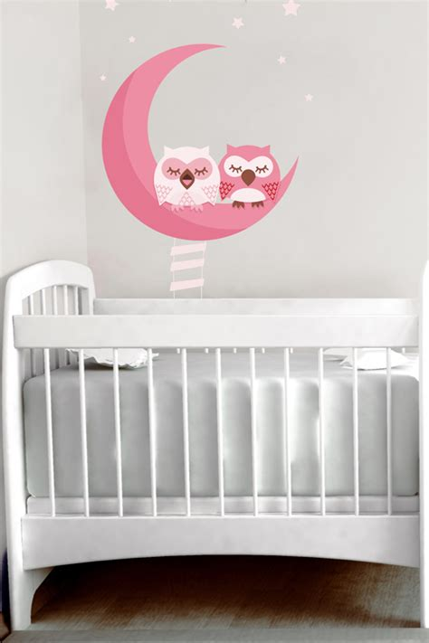 chambre bebe lune finest chambre fille deco fee ds sticker hiboux roses decovitres sticker mural with chambre bebe
