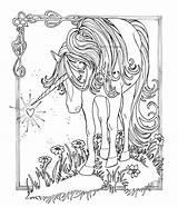 Coloring Horse Herd Horses Hard Printable Getcolorings sketch template