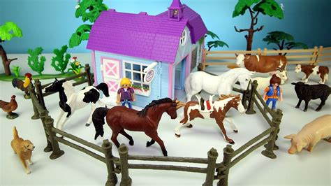 Horse Stable Barn And Farm Animal Toys For Kids
