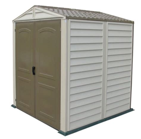 6x6 shelterlogic storage shed duramax 6x6 storemate vinyl storage shed with floor