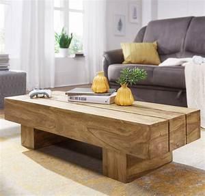 Couchtisch Günstig Ebay : finebuy couchtisch massivholz 120cm breit wohnzimmertisch ~ Watch28wear.com Haus und Dekorationen