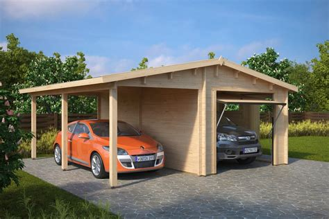 Combined Garage And Carport With Up And Over Door Type G